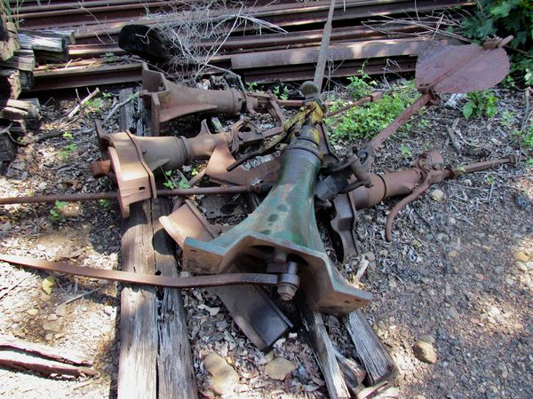 who knows what these are...also trolley grave yard...