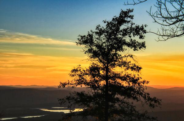 Sunset over Mt. Magazine...