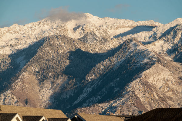 Looking east toward the Wasatch Mountains...