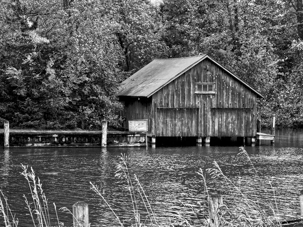 #4  Old boat house on the Leland River in Leland, ...
