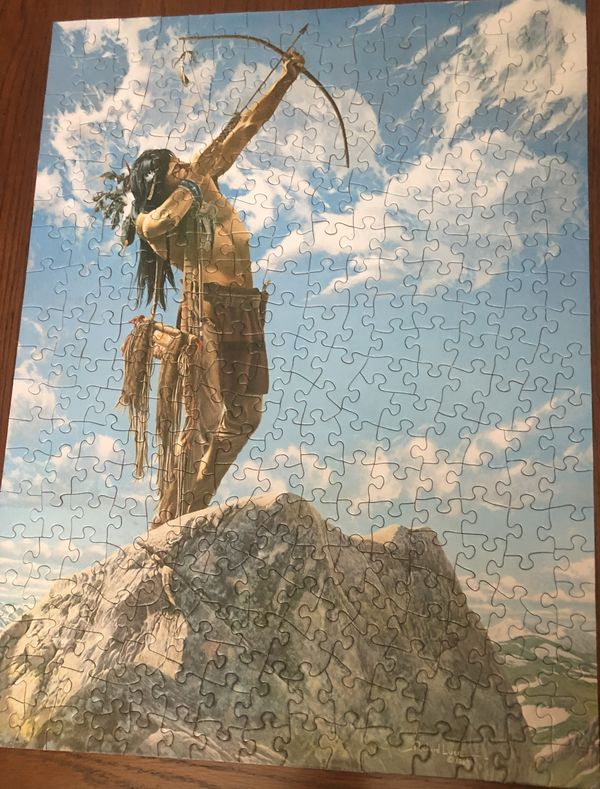 Dee finished another puzzle....
