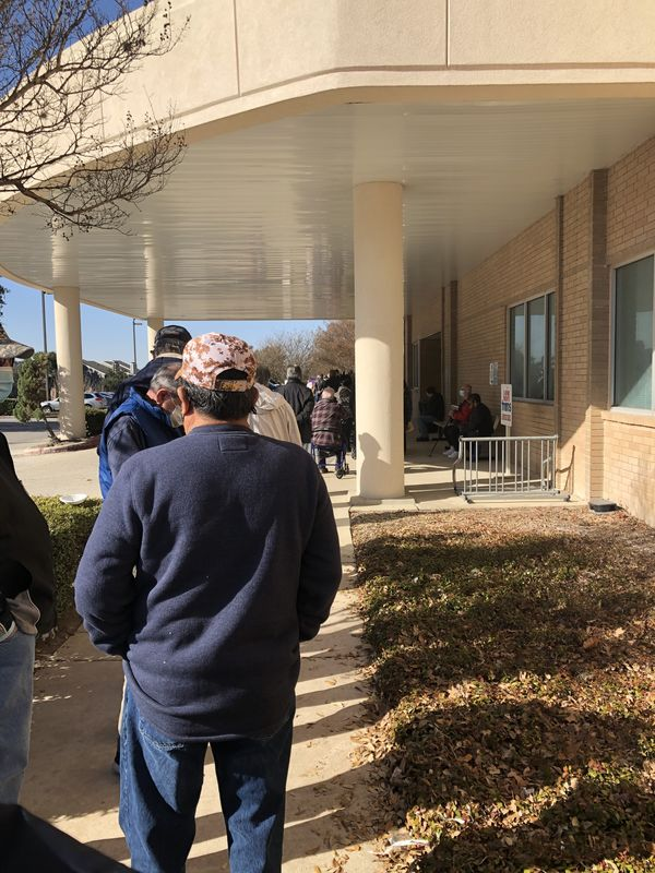 I stood in line 2 1/2 hours at one of the VA cente...