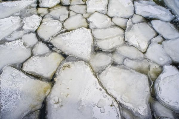 Ice in Portland Harbor...