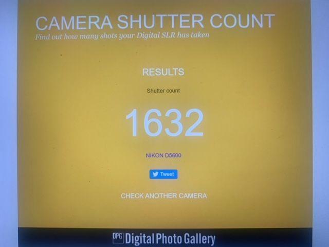 D5600 Shutter Count...
