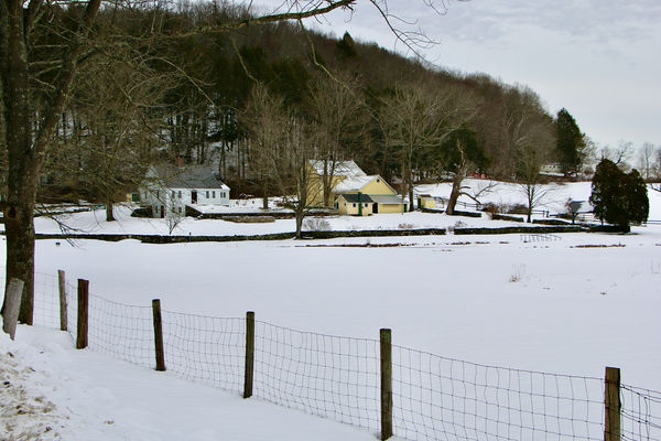 Gorgeous old farm accross from the waterfall...