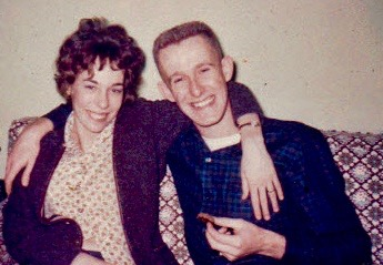Bill and I 1962-engaged...
