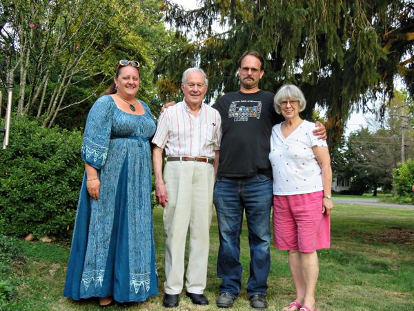 Maggie,bro.in law Harry,Sam and my sister Janet...