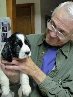 "Bob and one of our pups he chose to show,"" Robbie""..."