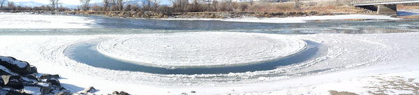 On our way there we crossed the Yellowstone River ...