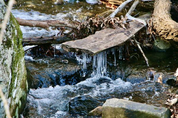 Winter frozen brook...