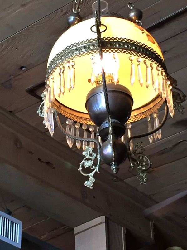 Then there was this light fixture hanging from a b...