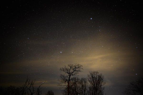 Lower left - I think I got a shooting star....