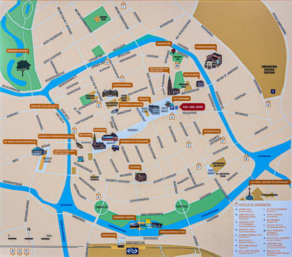 5 - Detail map of our first city: Groningen in the...