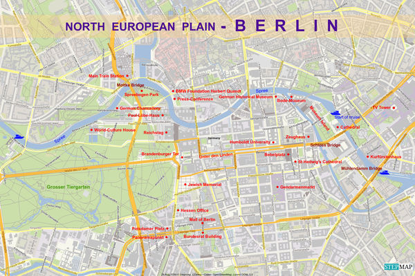 7 - Detail map of our visit of Berlin, capital cit...
