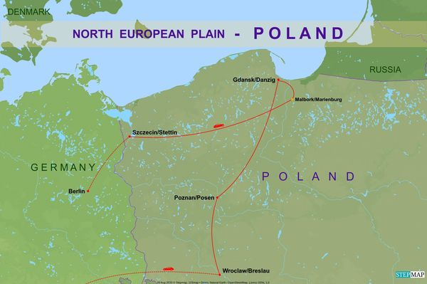8 - Detail map of our drive through Western Poland...