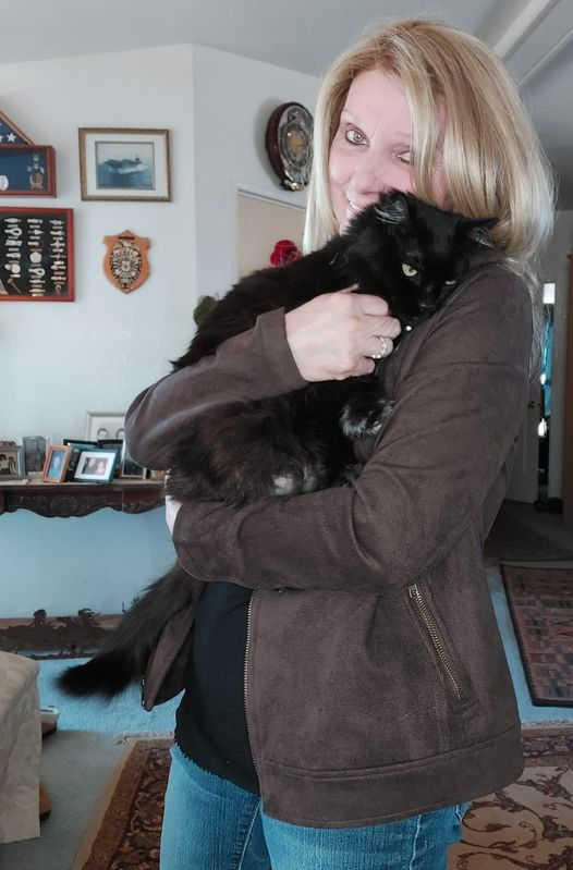 Snuggle time with Midnight...