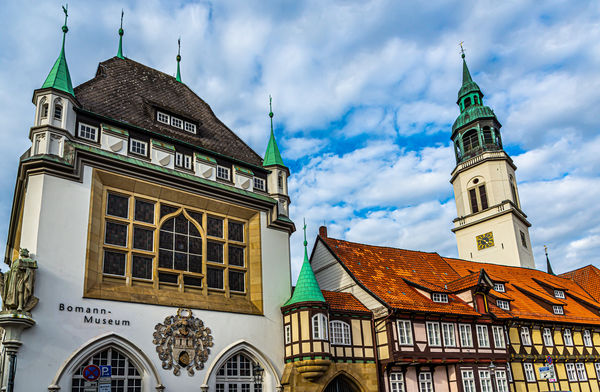 10 - Historic city center: Half-timbered buildings...
