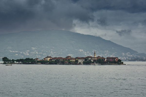 One of the Borromean Islands taken from the bus as...