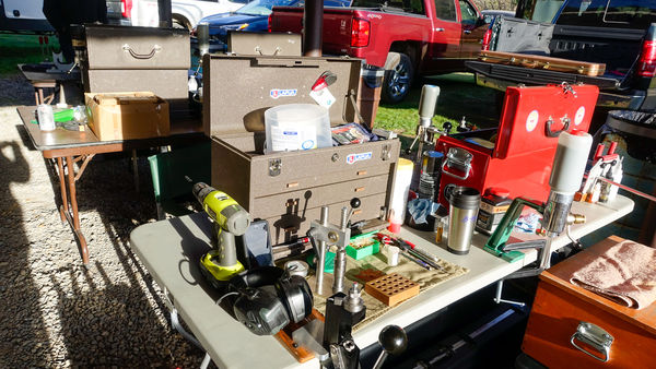 6.  Typical competitor reloading bench...