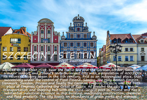 3 - Title page for Szczecin with a brief introduct...