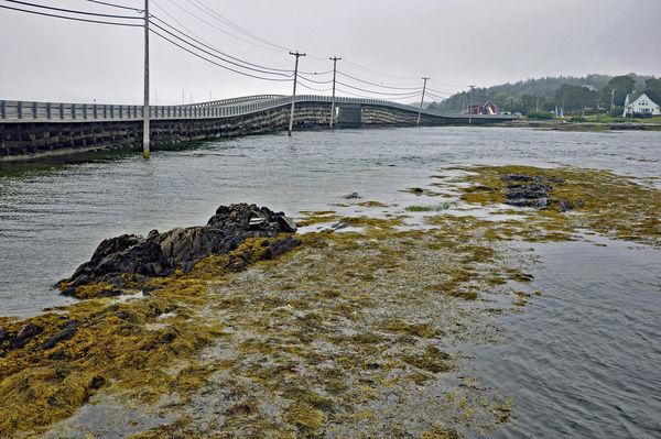 Cribstone Bridge between Orr's and Bailey's Island...
