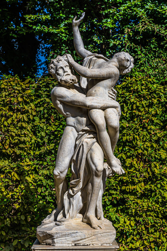 7 - Statues of Pluto and Proserpina (Persephone) a...