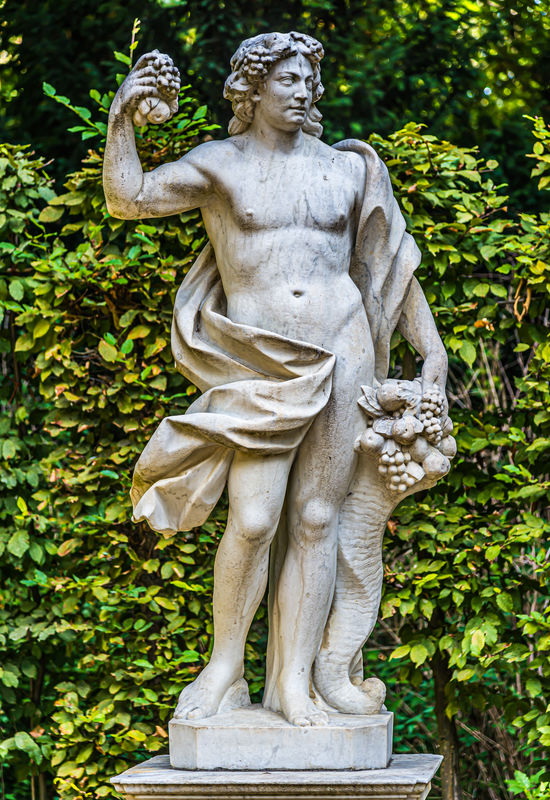 9 - Statue of Bacchus (Dionysus) with cornucopia a...