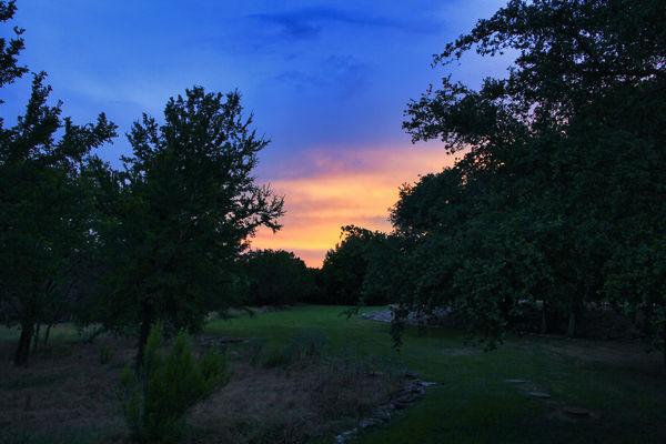 Sunset off the Back Poarch in Glen Rose....