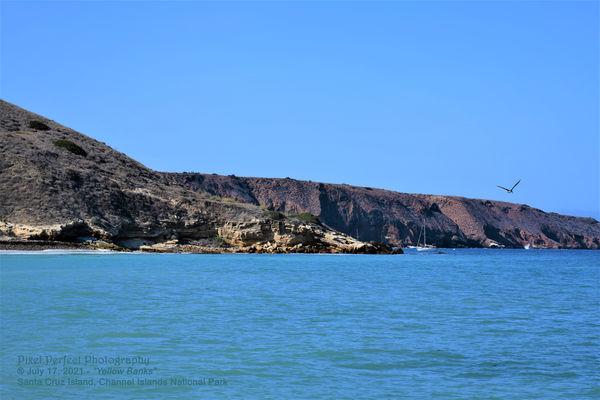 """Santa Cruz Island, """"Yellow Banks"""" harbor..."""