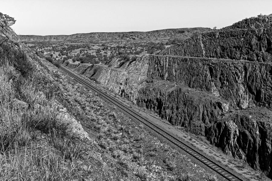 A railway cutting near Alice Springs, Central Aust...