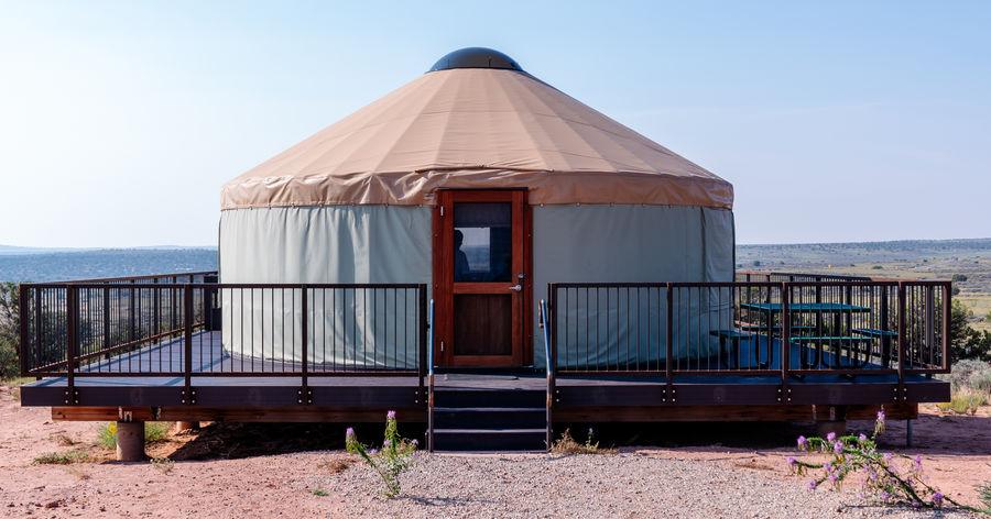 The yurt...