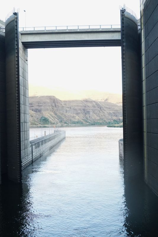 …as this last lock on the Snake River…....